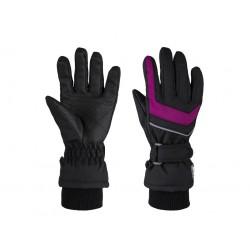 Dětské zimní rukavice Loap RENKO, černo růžová V21J