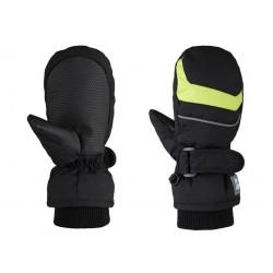 Dětské palčáky Loap RAFKO, černo zelená V21N