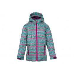 Dětská zimní bunda Loap CENTUS, tyrkysovo růžová P42X