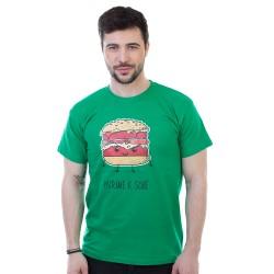 Patříme k sobě pánské triko BASTARD, zelená