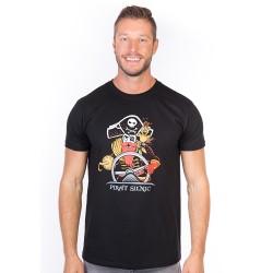 Pirát silnic pánské triko BASTARD, černá