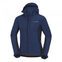 Pánská softshellová bunda NORTHFINDER BU-3485OR, modrá/tm.modrá