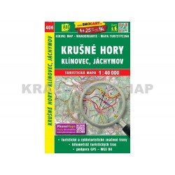 Turistická mapa č. 406 Krušné hory, Klínovec, Jáchymov 1:40 000