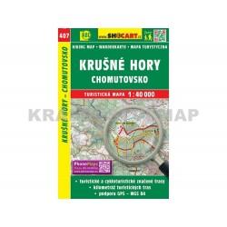Turistická mapa č. 407 Krušné hory, Chomutovsko 1:40 000