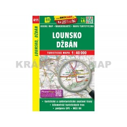 Turistická mapa č. 411 Lounsko, Džbán 1:40 000