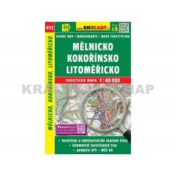 Turistická mapa č. 412 Mělnicko, Kokořínsko, Litoměřicko 1:40 000