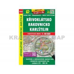 Turistická mapa č. 416 Křivoklátsko, Rakovnicko, Karlštejn 1:40 000