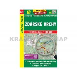 Turistická mapa č. 449 Žďárské vrchy 1:40 000