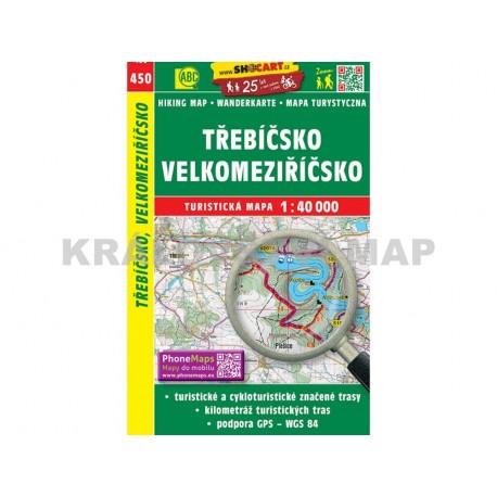 Turistická mapa č. 450 Třebíčsko, Velkomeziříčsko 1:40 000
