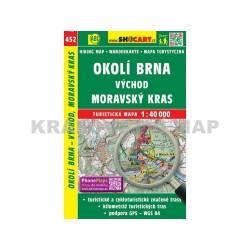 Turistická mapa č. 452 Okolí Brna východ, Moravský Kras 1:40 000