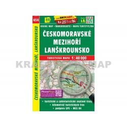 Turistická mapa č. 454 Českomoravské Mezihoří, Lanškrounsko 1:40 000