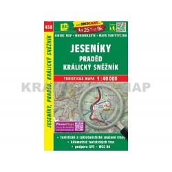 Turistická mapa č. 458 Jeseníky, Králický Sněžník 1:40 000