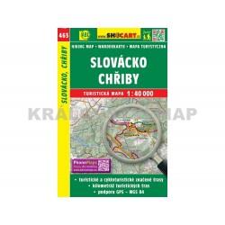 Turistická mapa č. 463 Slovácko, Chřiby 1:40 000
