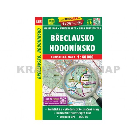 Turistická mapa č. 465 Břeclavsko, Hodonínsko 1:40 000