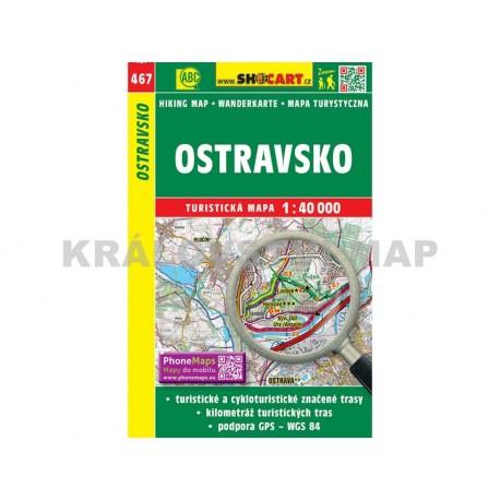 Turistická mapa č. 467 Ostravsko 1:40 000