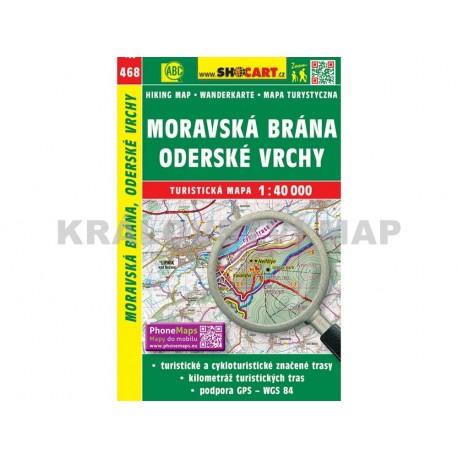 Turistická mapa č. 468 Moravská Brána, Oderské vrchy 1:40 000