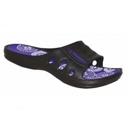 Dámské pantofle Loap BIRDE, černo fialová V11K