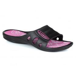 Dámské pantofle Loap BIRDE, černo růžová