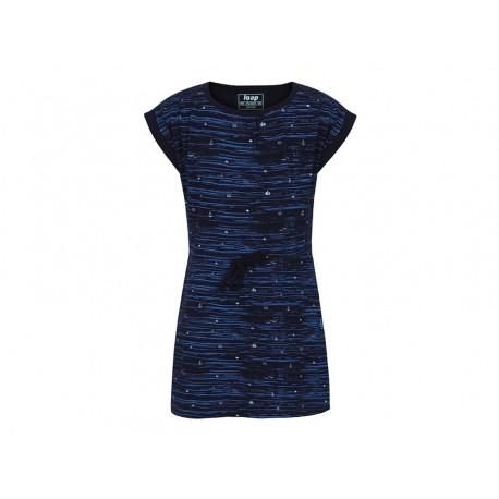 Dívčí šaty Loap ALINA, modrá M94MY
