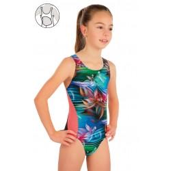 Dívčí jednodílné plavky Litex 57588
