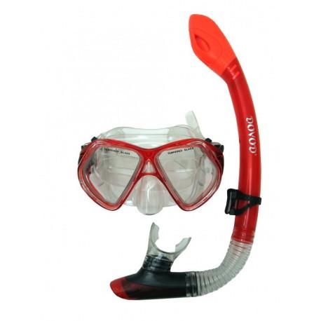 Potápěčský set DOVOD senior, červená