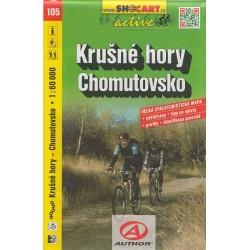 Cykloturistická mapa č. 105 Krušné hory, Chomutovsko
