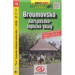 Cykloturitická mapa č. 115 Broumovsko, Adršpašskoteplické skály 1:60T