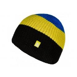 Dětská zimní čepice Loap ZOLIK, černá-žlutá-modrá L99C