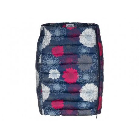 Dámská prošívaná sukně Loap IRALCA, modrá potisk L13YL
