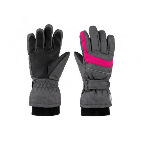 Dětské lyžařské rukavice Loap RUFUS, šedo růžová T71XJ