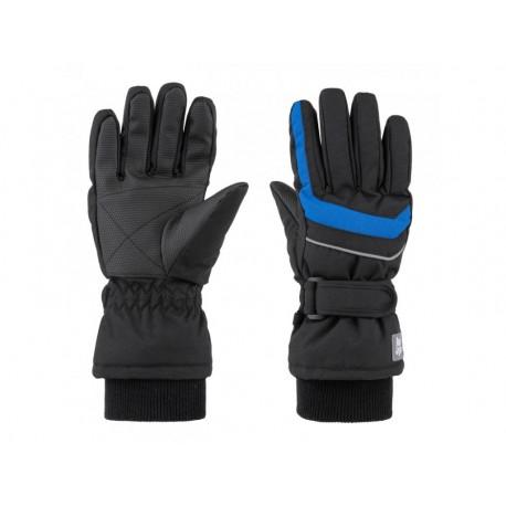 Dětské lyžařské rukavice Loap RUFUS, černo modrá V24L