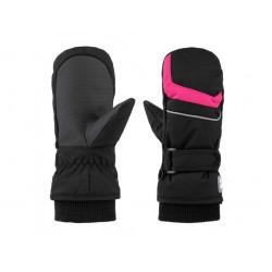 Dětské palčáky Loap RUFFI, černá růžová V24J