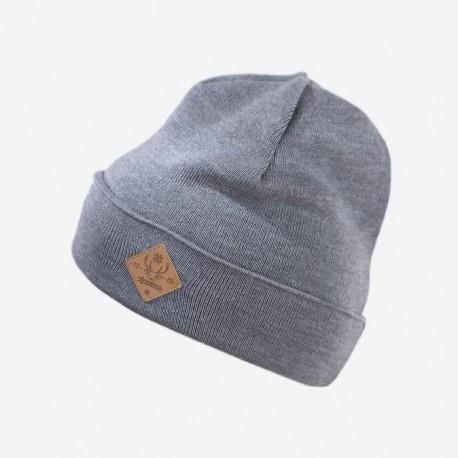 KAMA pletená čepice K50, 109 světle šedá