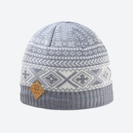 KAMA pletená Merino čepice A117, 109 šedá
