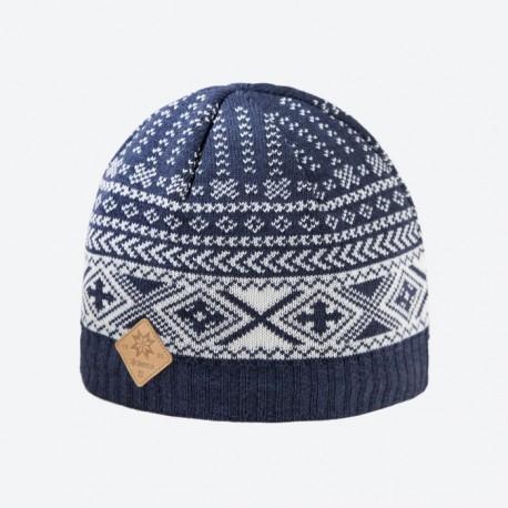 KAMA pletená Merino čepice A117, 108 tmavě modrá