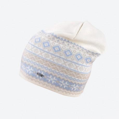 KAMA pletená Merino čepice A135, 101 přírodní bílá