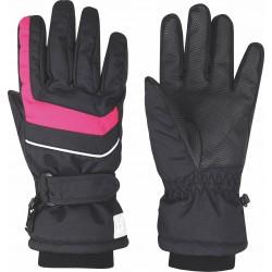 Loap NINO dětské lyžařské rukavice, černá/růžová