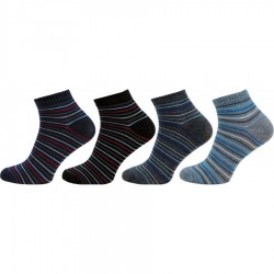 Pánské kotníkové ponožky 1122, 4 páry v balení, mix proužek