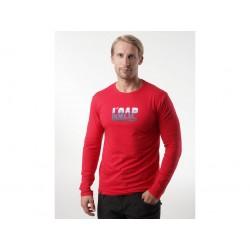 Pánské triko s dlouhým rukávem Loap ALBI, červená G57G