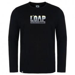 Pánské triko s dlouhým rukávem Loap ALBI, černá V24V