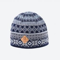KAMA pletená Merino čepice A142, modrá 108
