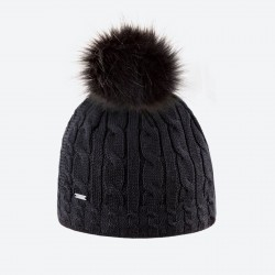 KAMA dámská pletená MERINO čepice A121, černá 110