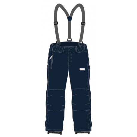 Loap LONNY dětské softshellové kalhoty, modrá L13L