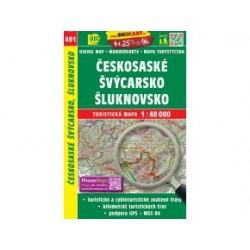 Turistická mapa č. 401 Českosaské Švýcarsko, Šluknovsko 1:40.000