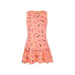 Dívčí šaty Loap BAZU, lososová E36J