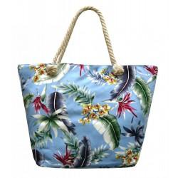 Plážová taška, světle modrá tisk